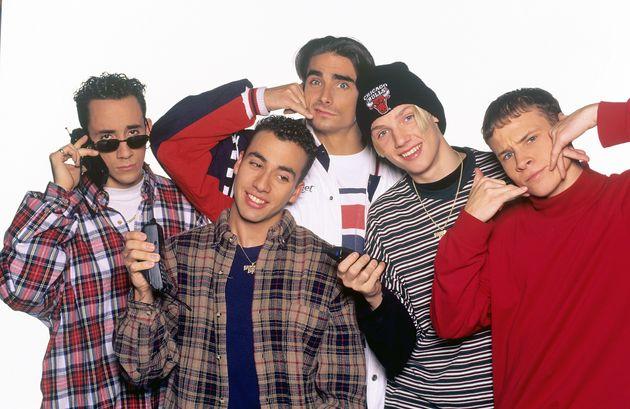 AJ Mclean with his Backstreet Boys