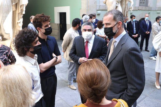 Imagen del encuentro de 'Los Javis' con Felipe