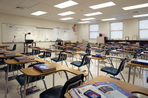 Imagen de un aula de un