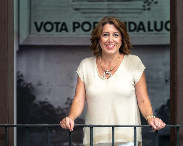 La candidata a las primarias del PSOE de Andalucía, Susana Díaz, en una foto de