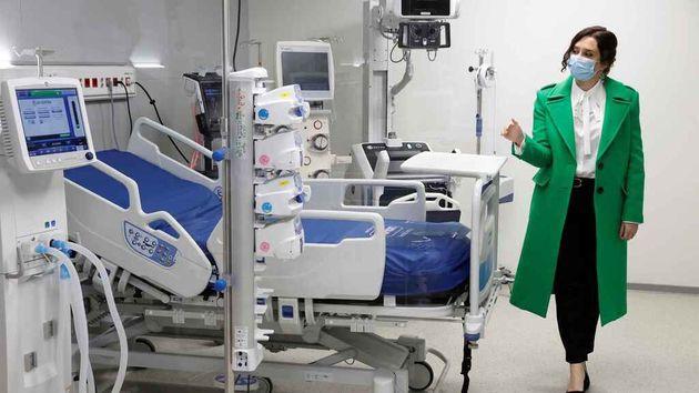 Isabel Díaz Ayuso en el Hospital Isabel