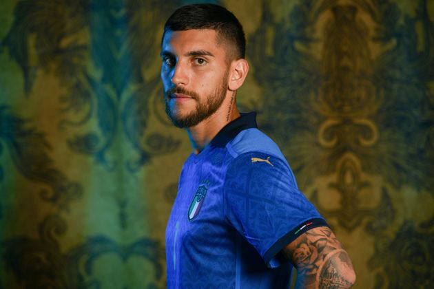 FLORENCE, ITALY - JUNE 02: Lorenzo Pellegrini of Italy poses during the official UEFA Euro 2020 media...