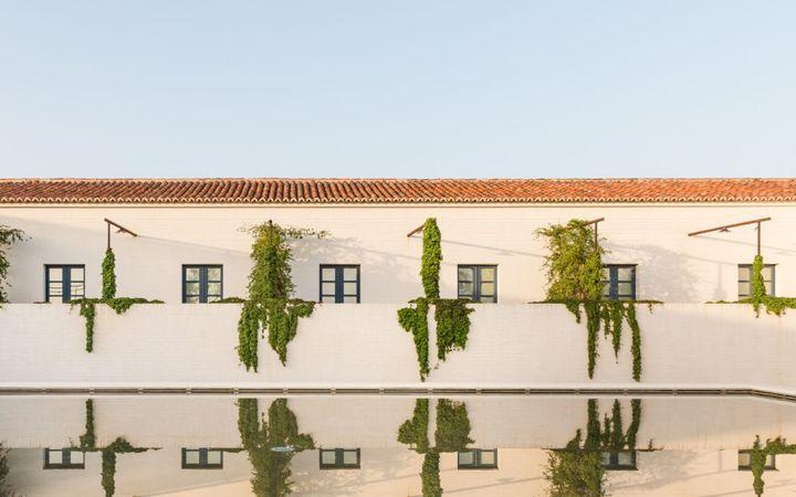 Patio del hotel São Lourenço do Barrocal.