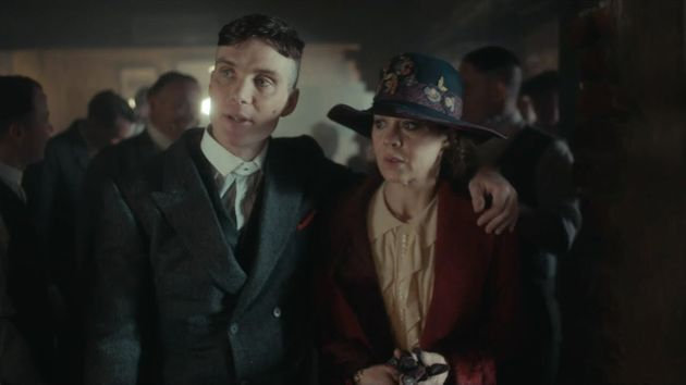 Cillian Murphy and Helen McCrory in character in Peaky