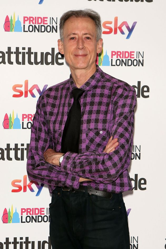 Peter Tatchell at the Attitude Pride Awards in 2017
