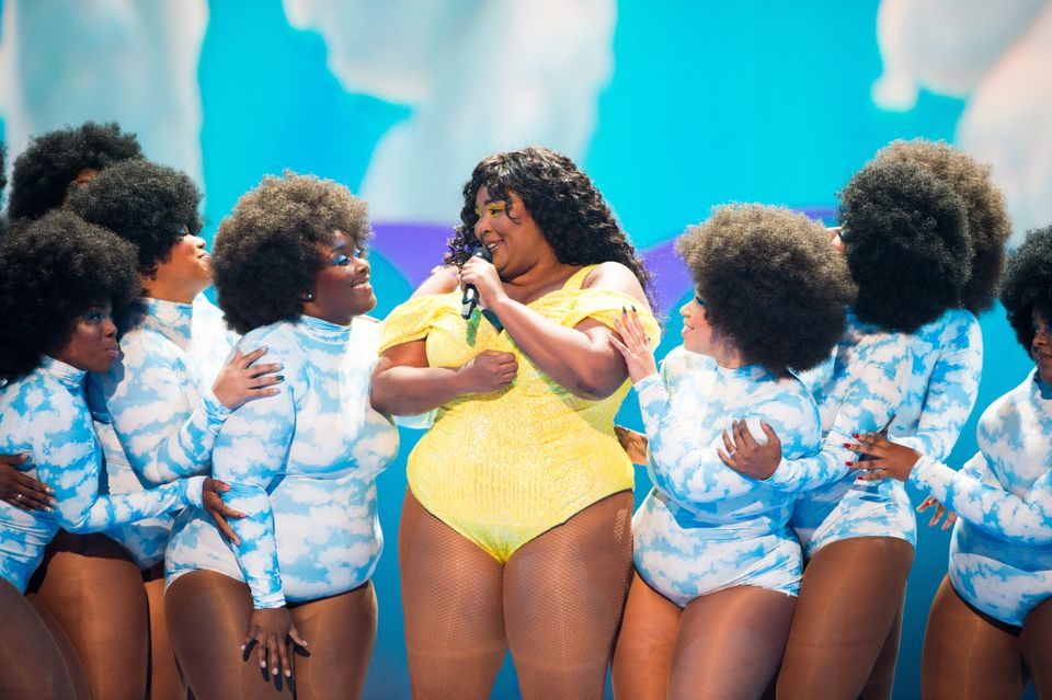 Lizzo performing Good As Hell at the VMAs in
