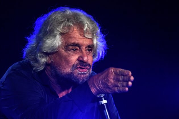 NAPLES, CAMPANIA, ITALY - 2019/10/12: Italian comedian, blogger and political leader of the Five Stars...