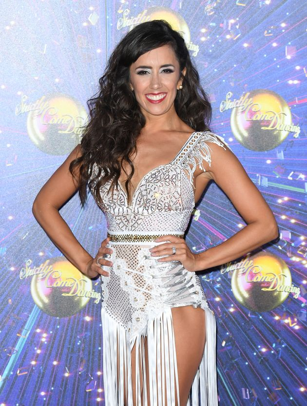 Janette at the Strictly red carpet launch in