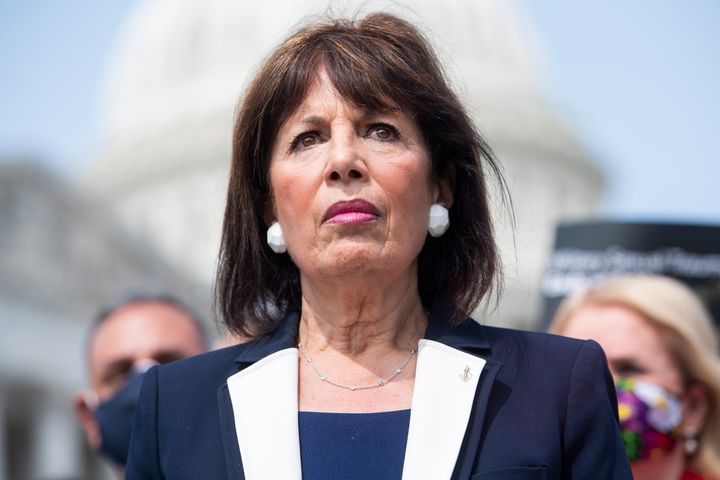Rep. Jackie Speier (D-Calif.) attends a news conference, Sept. 16, 2020.