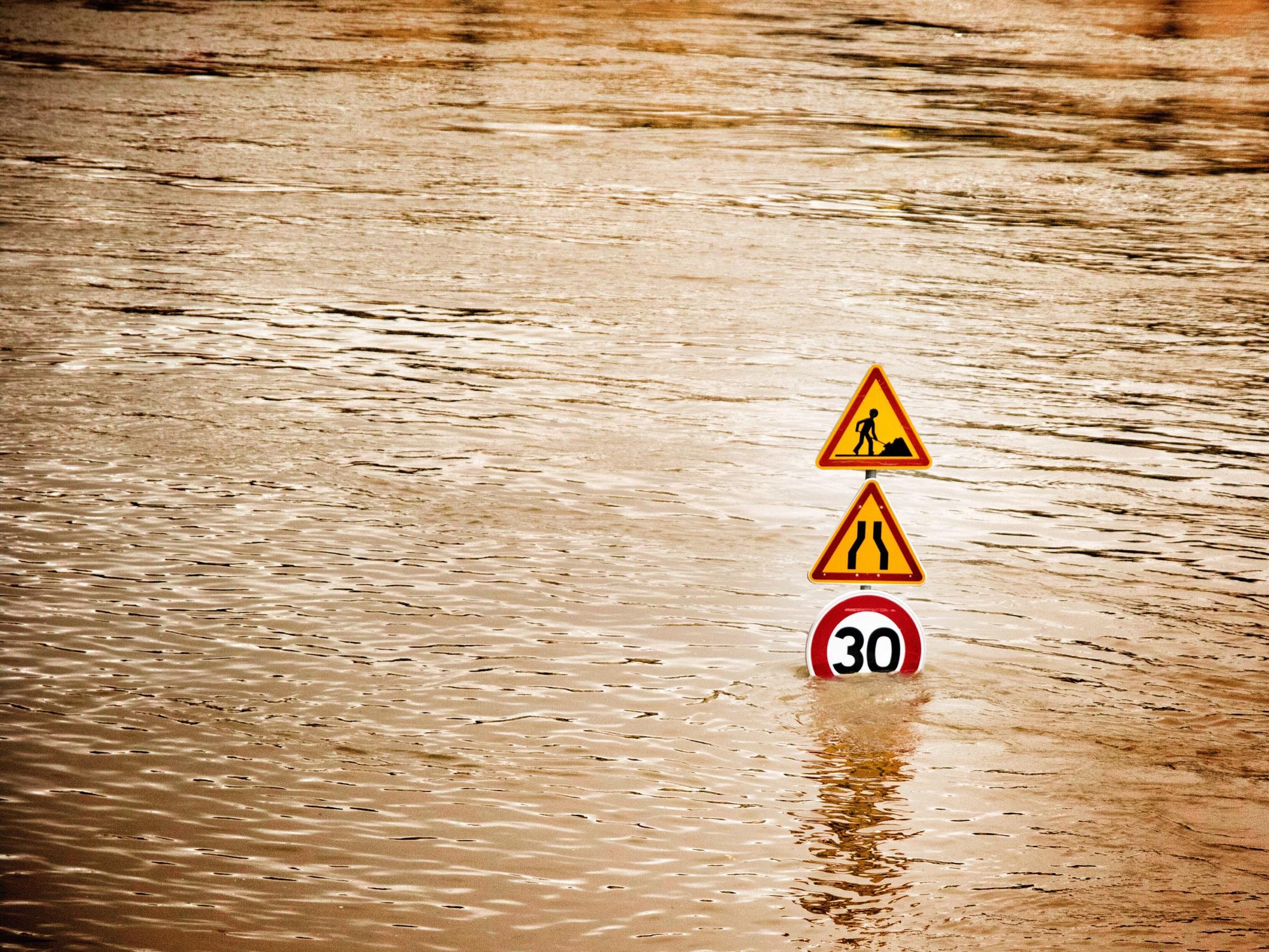 """Nantua dans l'Ain victime d'inondations après un orage """"très violent"""""""