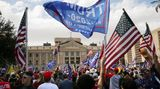 Angry Trump supporters rallied outside of the Arizona state capitol after Joe Biden was declared winner of the 2020 presidential election.
