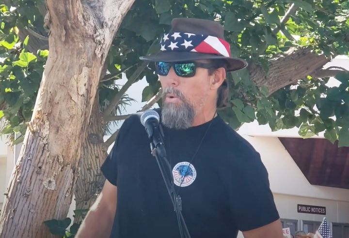 Alan Hostetter speaks at an event last month.