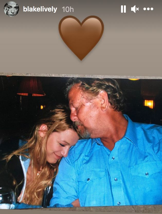Blake Lively paid tribute to her father Ernie Lively on
