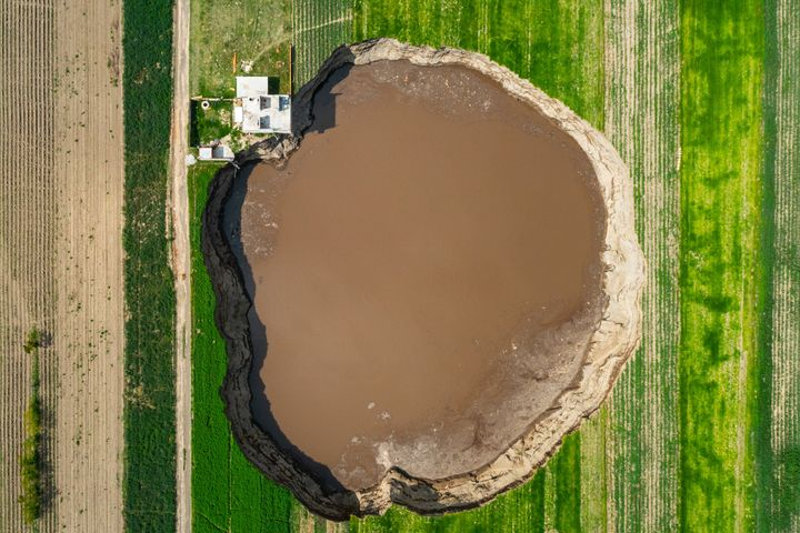 The sinkhole is now over 400 feet (125 meters) across in some places, and may be 150 deep (45 meters) at its deepest point. I