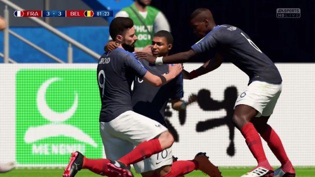 Giroud, MBappé et Pogba dans le jeu vidéo