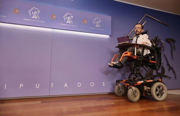 El portavoz de Unidas Podemos en el Congreso, el pasado 25 de mayo, en la Cámara