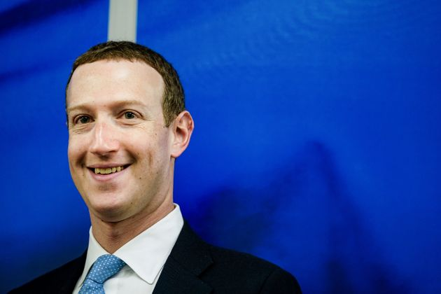 Founder and CEO of US online social media and social networking service Facebook Mark Zuckerberg reacts upon his arrival for a meeting with European Commission vice-president in charge for Values and Transparency, in Brussels, on February 17, 2020. (Photo by Kenzo TRIBOUILLARD / AFP) (Photo by KENZO TRIBOUILLARD/AFP via Getty Images)