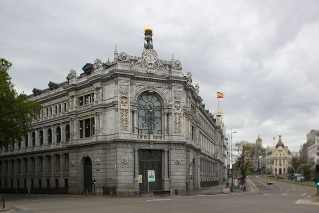 Fachada del Banco de España, en