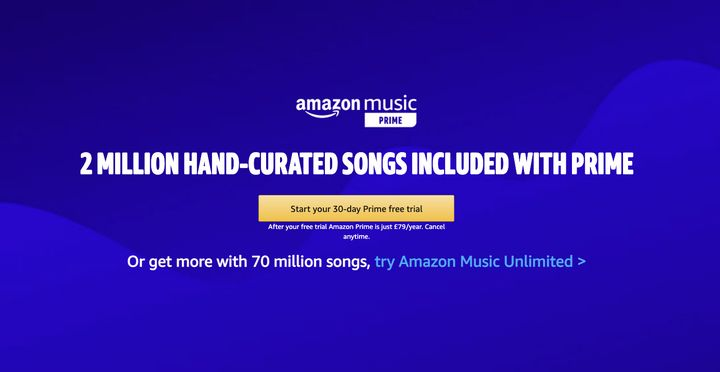 Prime members who haven't yet tried Amazon Music Unlimited can get four months free.