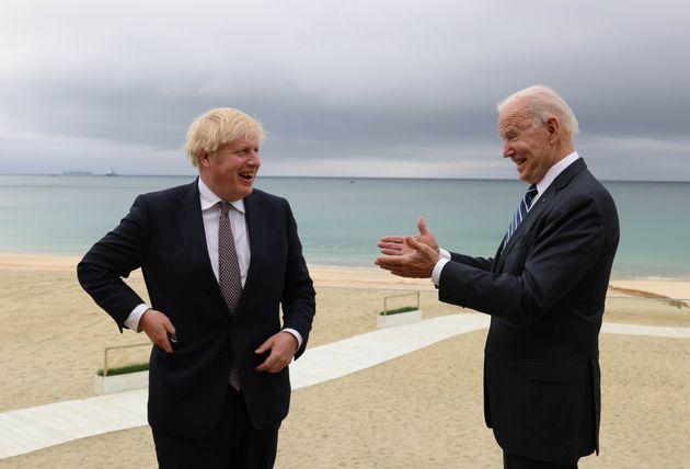Boris Johnson and Joe Biden meet in