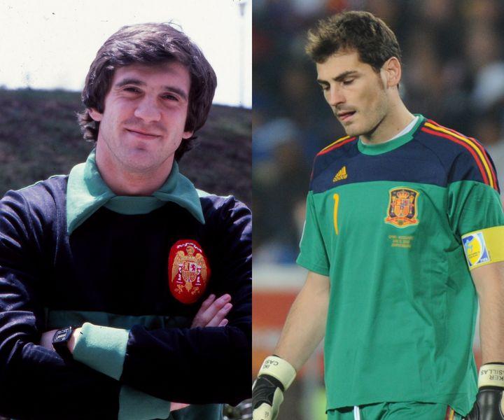 Luis Miguel Arconada, en 1986; Iker Casillas, en 2010.