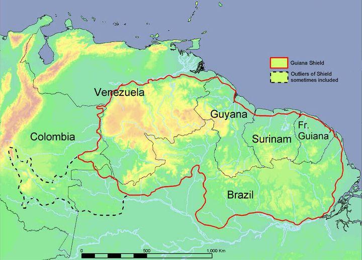베네수엘라, 가이아나, 수리남, 프랑스령기아나, 브라질 등으로 이뤄진 남미 북부의 기아나 고지는 세계적인 생물 다양성의 핫 스폿이다.