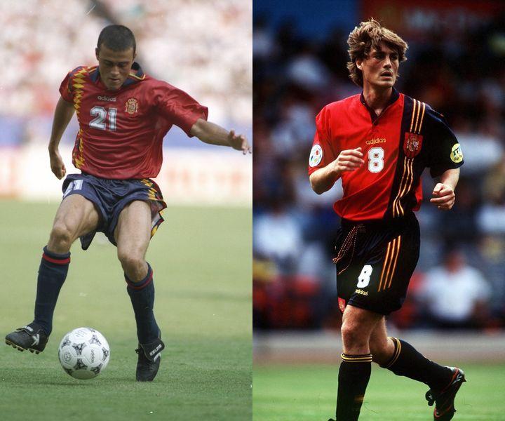 Luis Enrique en el Mundial de 1994 y Julen Guerrero en la Eurocopa de 1996.