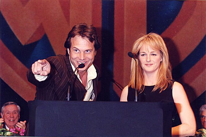 """""""Twister"""" stars Bill Paxton (left) and Helen Hunt in 1996."""