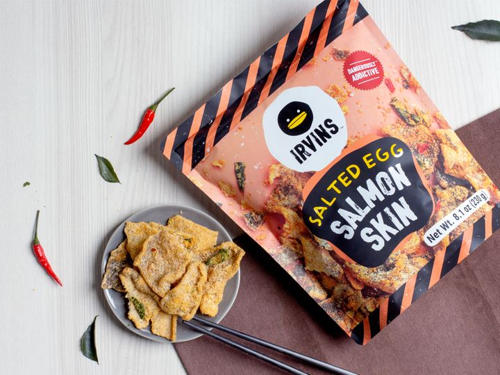 """Looking for a protein-forward chip that's keto-friendly? Try <a href=""""https://amzn.to/3ix30E0"""" target=""""_blank"""" rel=""""noopener noreferrer"""">Irvins Salted Egg Salmon Skin chips for $12.34</a>."""
