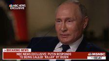 Vladimir Putin Dismisses Joe Biden's Assertion That He Is A 'Killer'