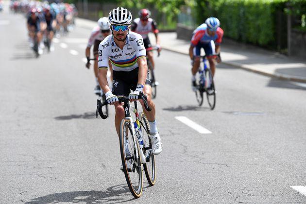 Julian Alaphilippe a disputé vendredi 11 juin la 5e étape du Tour de Suisse à l'issue...