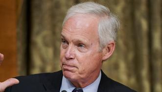 WASHINGTON, DC - JUNE 08: U.S. Sen. Ron Johnson (R-WI) questions Office of Management and Budget acting director Shalanda Young during a Senate Budget Committee hearing on June 8, 2021 in Washington, DC. (Photo by Greg Nash-Pool/Getty Images)