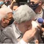Jean-Luc Mélenchon enfariné en amont de la marche des
