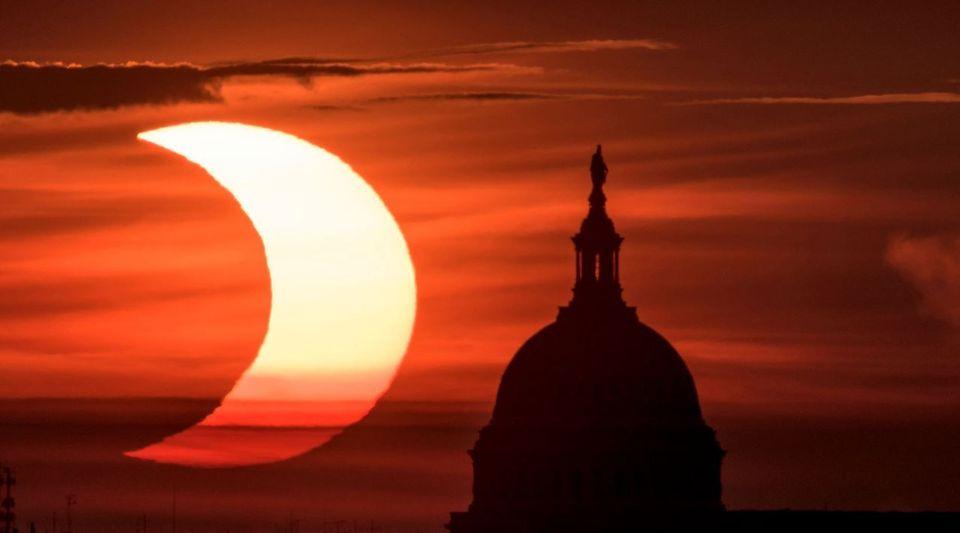 Μια μερική ηλιακή έκλειψη...