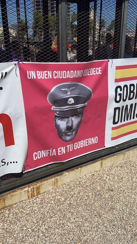 Manifestación en Colón contra los indultos