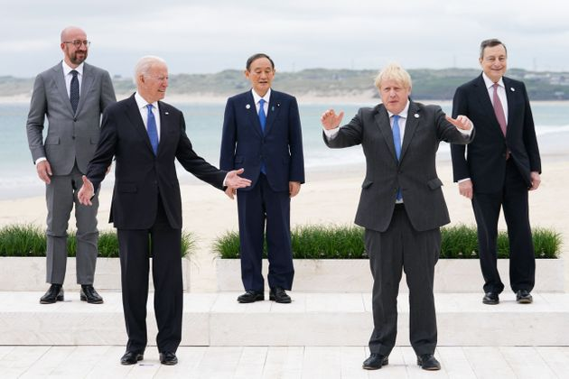 G7 leaders during a so-called
