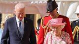 Biden speaks with Queen Elizabeth II during Sunday's visit,, which will include tea.