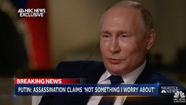 El presidente ruso, Vladimir Putin, durante una entrevista con la