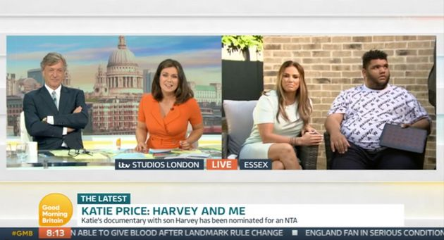 Katie and Harvey Price being interviewed by Richard Madeley and Susanna