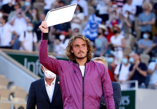 El tenista Stefanos Tsitsipas, finalista de Roland Garros este domingo, 13 de junio, en
