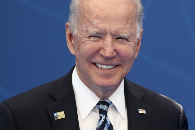 epa09270229 US President Joe Biden attends the NATO summit at the Alliance's headquarters in Brussels,...