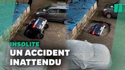 En Inde, cette voiture a été engloutie dans le sol en quelques