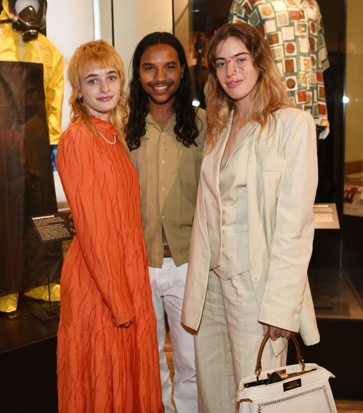 """Esther McGregor, Tyler Dean Flores and Clara McGregor at the premiere of the feature film """"The Birthday Cake."""""""