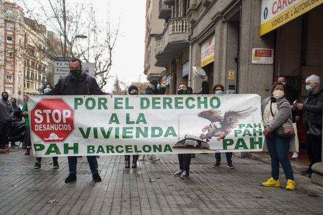 Foto de archivo de una manifestación contra los desahucios en