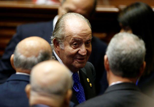 El rey Juan Carlos, en la toma de posesión del peruanoPedro Pablo Kuczynski, en