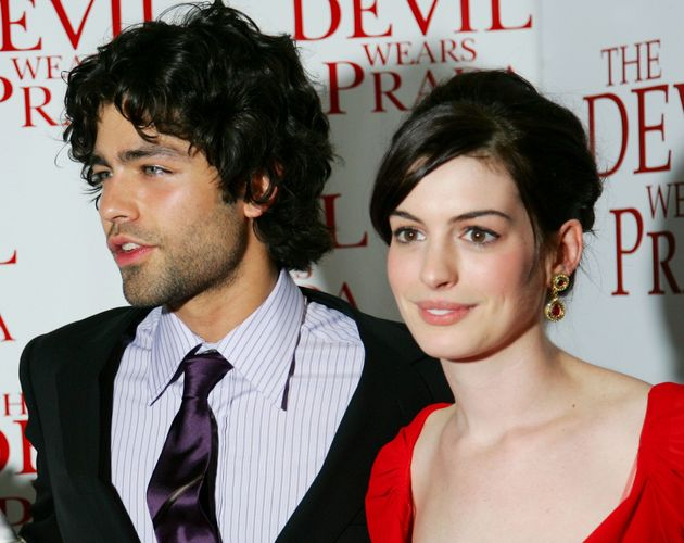Adrian Grenier and Anne Hathaway at the premiere of The Devil Wears