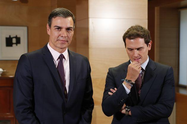 Pedro Sánchez y Albert Rivera, en