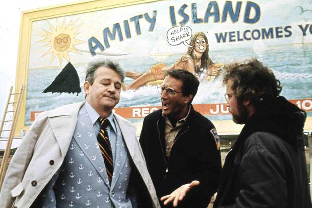 Jaws' fictional Mayor being berated by police chief Martin Brody over the dangers of keeping beaches