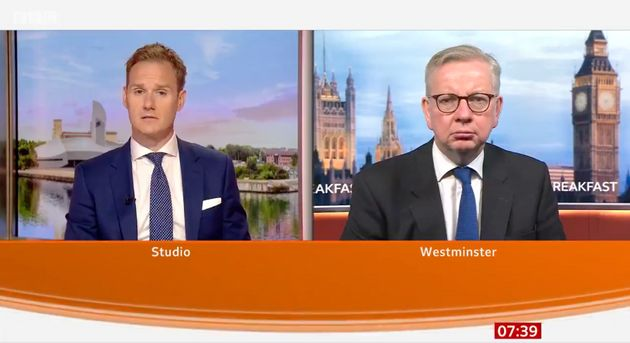 Dan Walker and Michael Gove on BBC