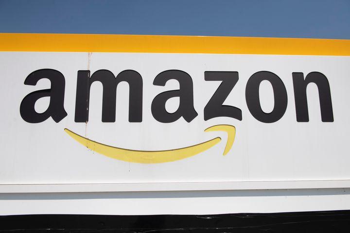 Logo de un almacén de Amazon en el Piamonte (Italia).